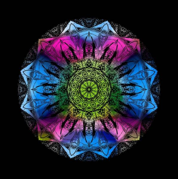 Digital Art - Kaleidoscope - Colorful by Deleas Kilgore