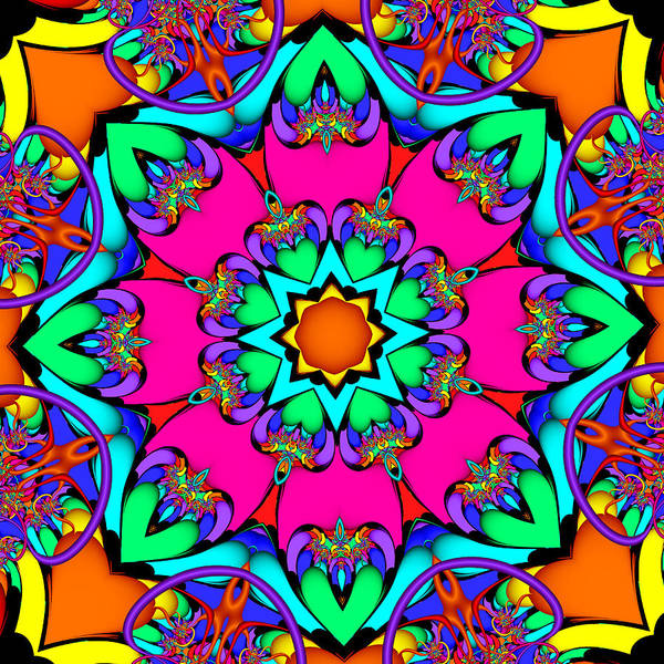 Digital Art - Kaleidoscope Flower 03 by Ruth Moratz