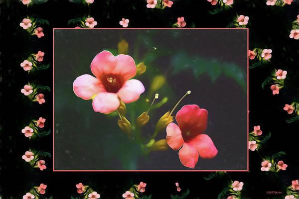 Painting - Kaleidoscope Of Pink Flowers - Painting by Ericamaxine Price