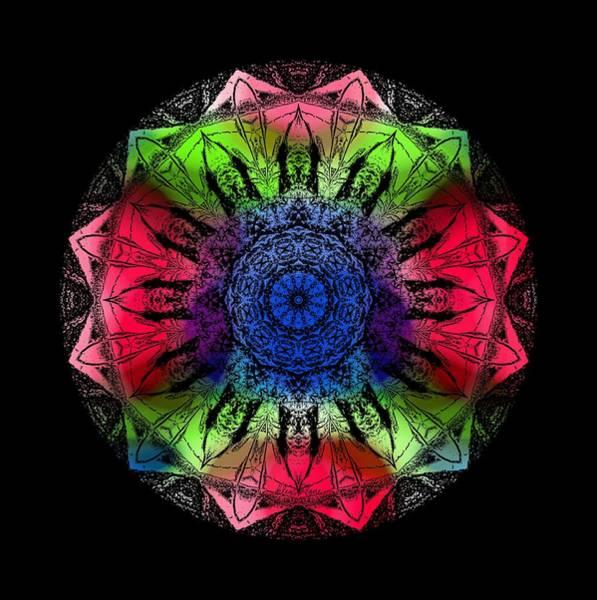 Kaleidoscope - Warm And Cool Colors Art Print