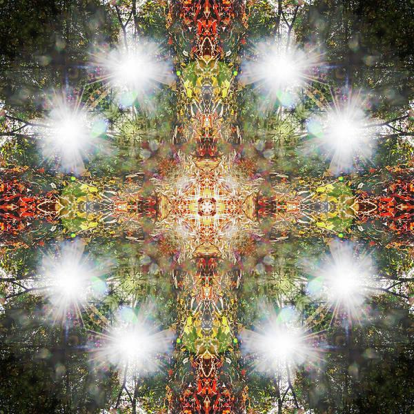 Digital Art - Flaring Cross by Frans Blok