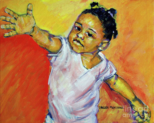 Plaits Painting - Kalen's Dance by Charles M Williams