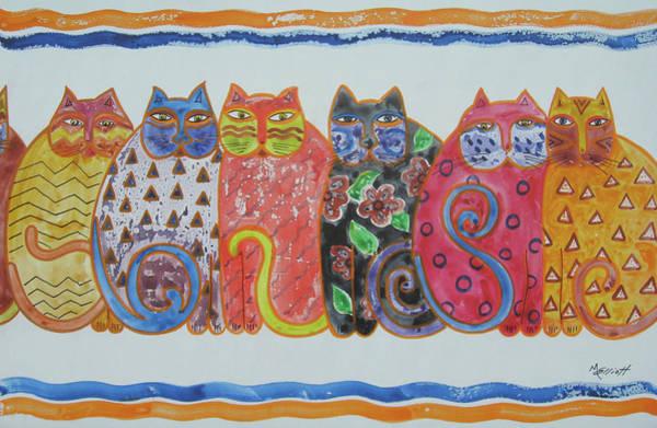 Calico Kitten Wall Art - Painting - Kalico Kitties by Marsha Elliott