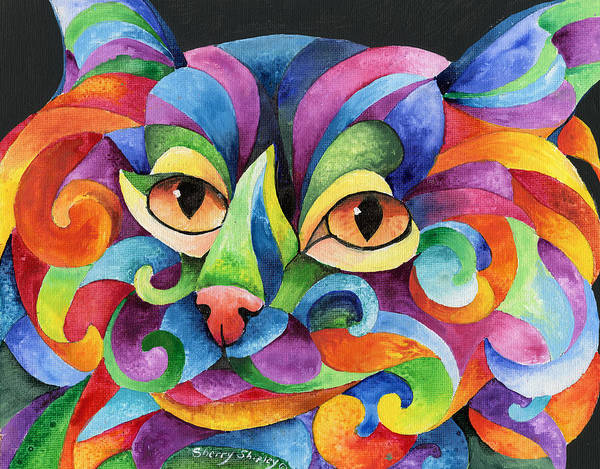 Painting - Kalidocat by Sherry Shipley
