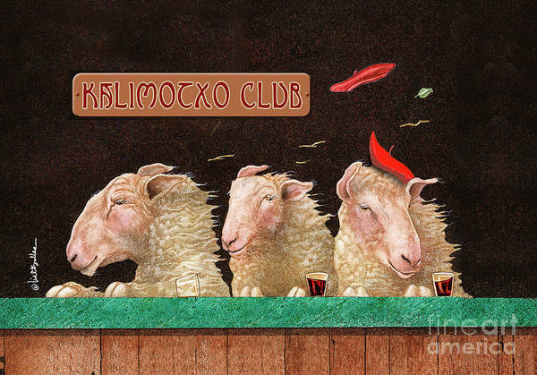 Painting - Kalimocho Club... by Will Bullas
