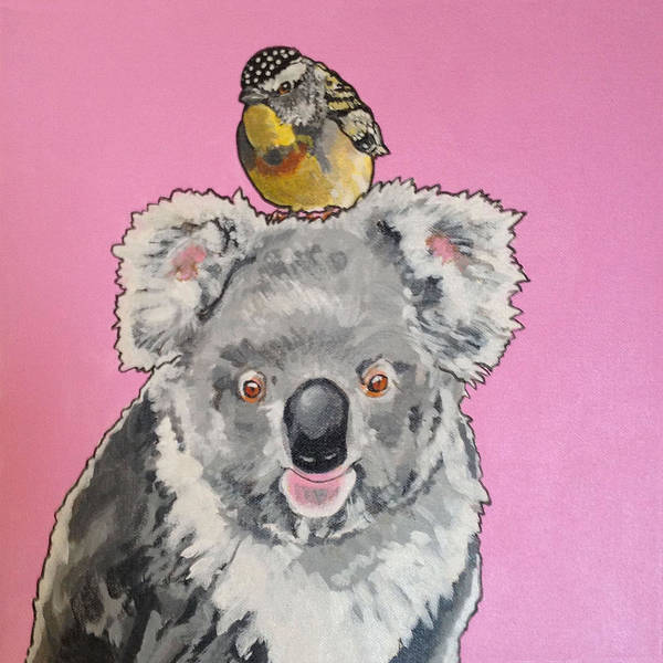 Painting - Kalman The Koala by Sharon Cromwell