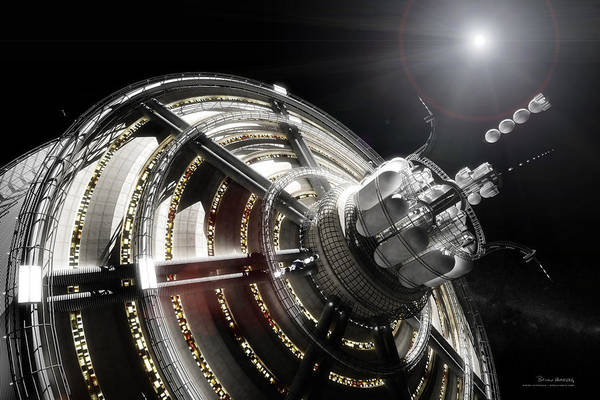 Space Exploration Digital Art - Kalpana One Port by Bryan Versteeg