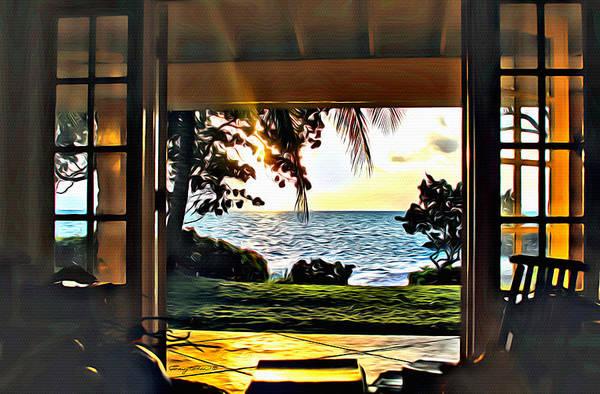 Carribean Islands Digital Art - Kamalame Living Room by Anthony C Chen