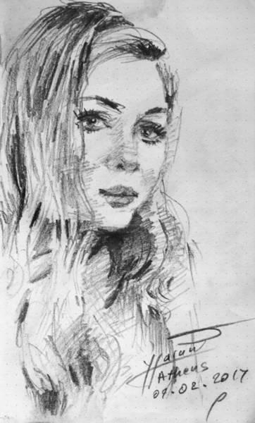 Portraits Drawing - Kamela by Ylli Haruni