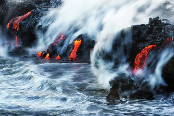 Magma Wall Art - Photograph - Kamokuna Lava Ocean Entry, 2016 by Christopher Johnson