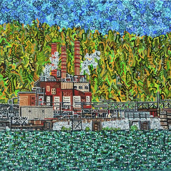 Wall Art - Painting - Kanawha River by Micah Mullen