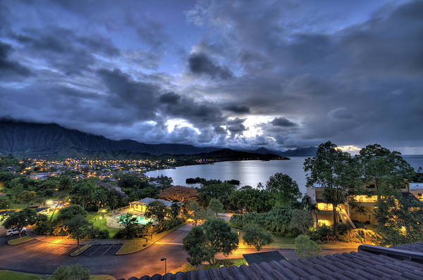 Photograph - Kaneohe Bay Night Hdr by Dan McManus