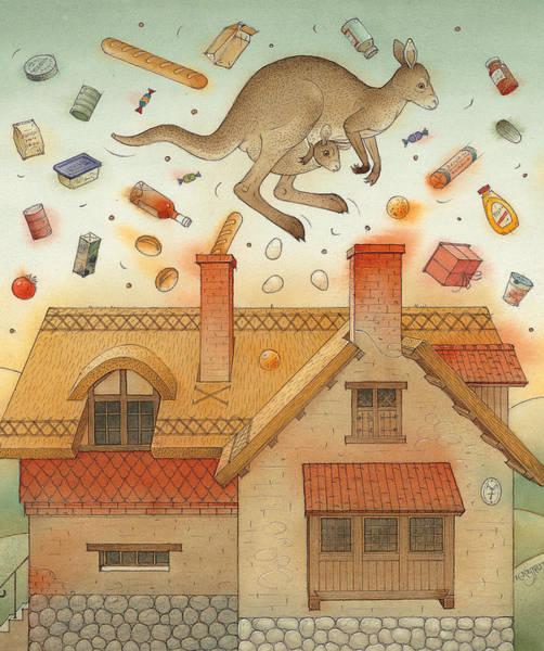 Kangaroo Wall Art - Painting - Kangaroo by Kestutis Kasparavicius