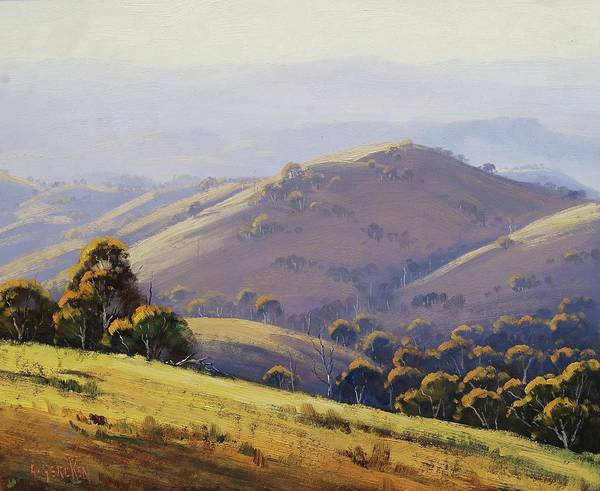 Wall Art - Painting - Kanimbla Hillscape, Australia by Graham Gercken