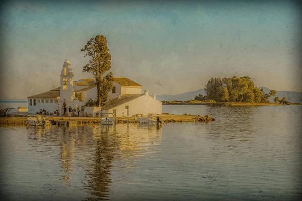 Photograph - Kanoni, Corfu, Greece - Vlacherna Monastery And Pontikonisi by Mark Forte