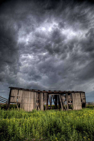 Box Car Photograph - Kansas Boxcar Storm by Thomas Zimmerman