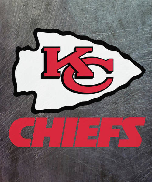 Mixed Media - Kansas City Chiefs On An Abraded Steel Texture by Movie Poster Prints