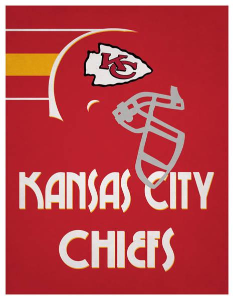 Wall Art - Mixed Media - Kansas City Chiefs Team Vintage Art by Joe Hamilton