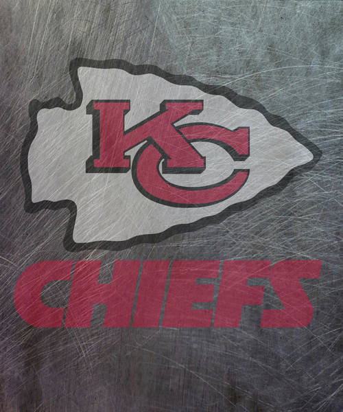 Mixed Media - Kansas City Chiefs Translucent Steel by Movie Poster Prints