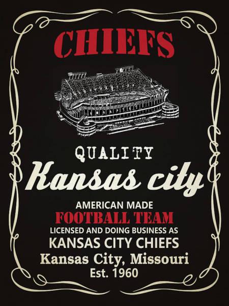 Whiskey Mixed Media - Kansas City Chiefs Whiskey by Joe Hamilton