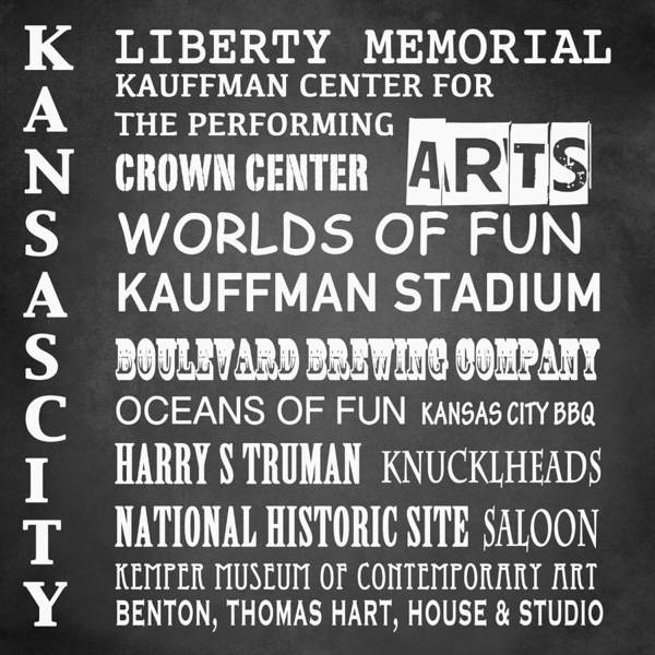 Historic House Digital Art - Kansas City Famous Landmarks by Patricia Lintner