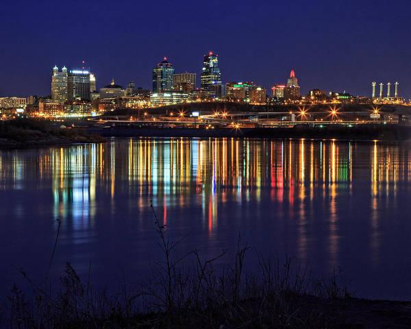 Wall Art - Photograph - Kansas City Missouri River Reflection by Kevin Anderson
