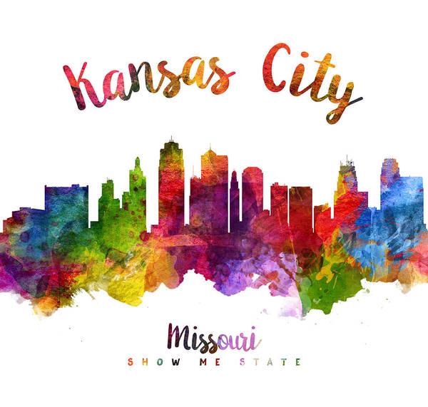 Wall Art - Painting - Kansas City Missouri Skyline 23 by Aged Pixel