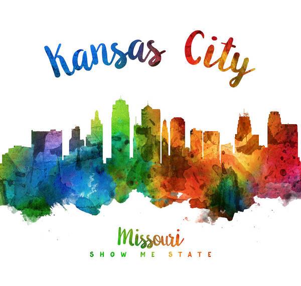 Wall Art - Painting - Kansas City Missouri Skyline 25 by Aged Pixel