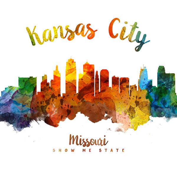 Wall Art - Painting - Kansas City Missouri Skyline 26 by Aged Pixel