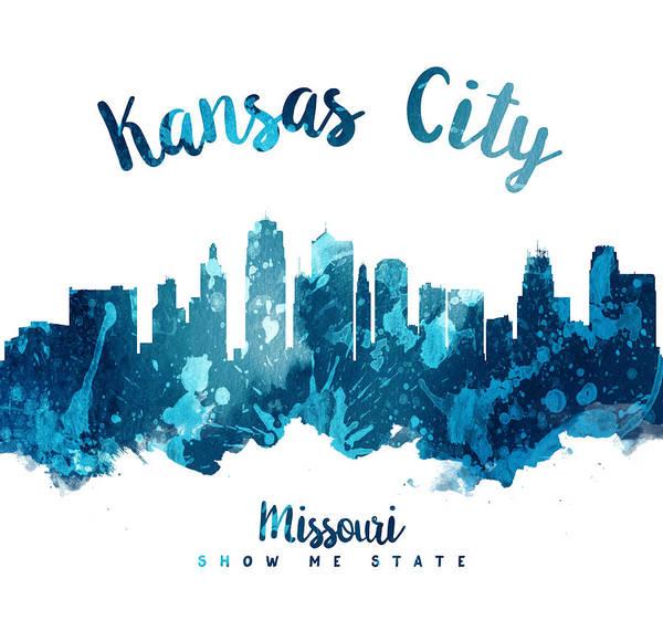 Wall Art - Painting - Kansas City Missouri Skyline 27 by Aged Pixel