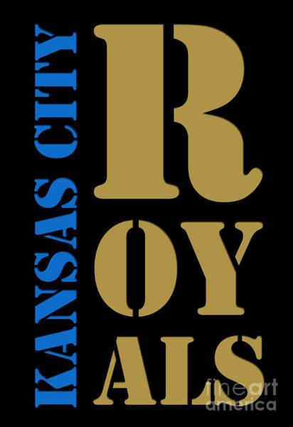 Royal Digital Art - Kansas City Royals Typography by Drawspots Illustrations