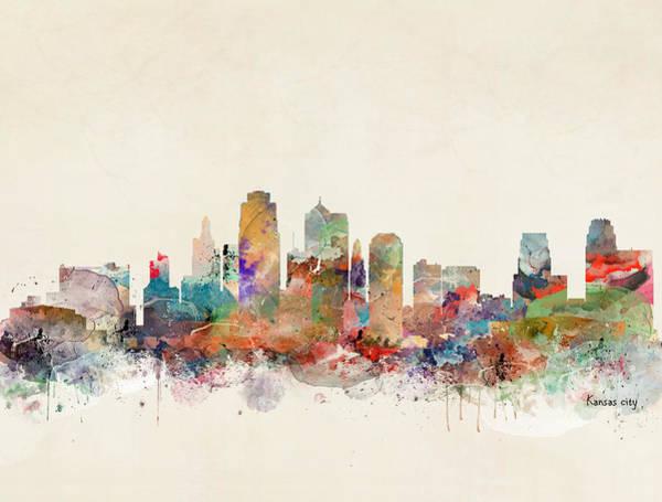 City Landscape Wall Art - Painting - Kansas City Skyline by Bri Buckley