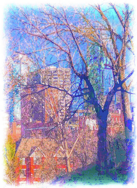 Wall Art - Digital Art - Kansas City Through The Trees by Julie Flanagan