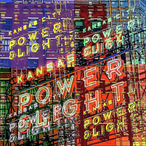 Wall Art - Digital Art - Kansas City's Power And Light In Lights by Julie Flanagan