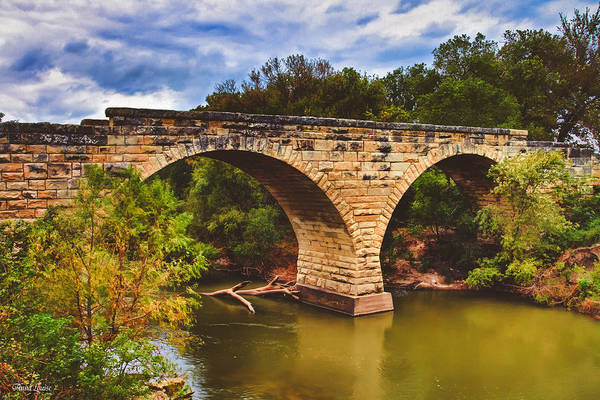 Photograph - Kansas Clements Stone Arch Bridge by Anna Louise