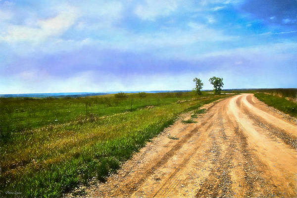 Photograph - Kansas Early Spring Countryside by Anna Louise
