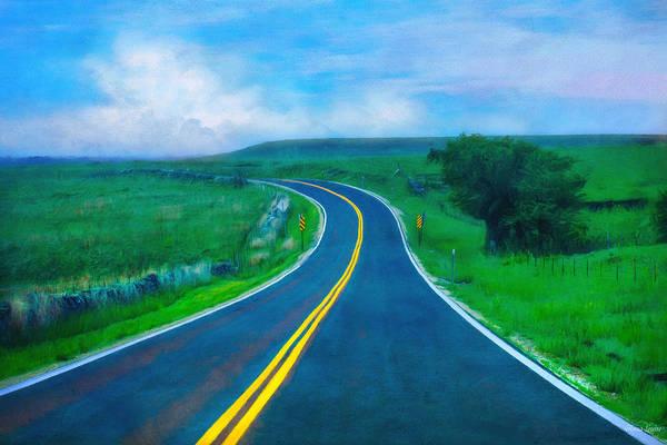 Photograph - Kansas Flint Hills Highway 99 by Anna Louise