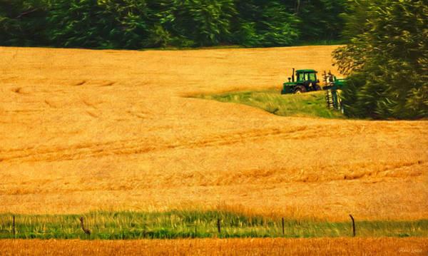 Photograph - Kansas Golden Wheat Fields by Anna Louise