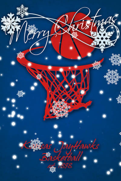 Kansas Jayhawks Christmas Card 2 Art Print