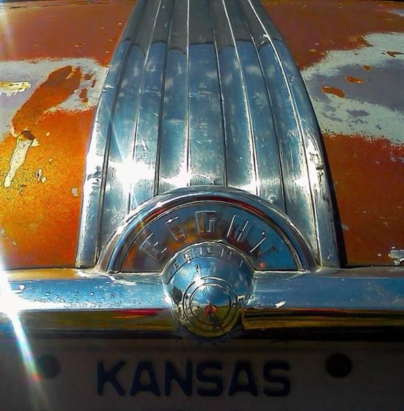 Clunker Wall Art - Photograph - Kansas Plates by Honey Behrens