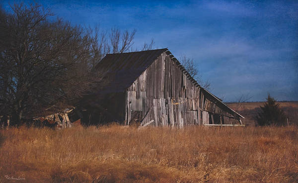 Photograph - Kansas Prairie Barn by Anna Louise