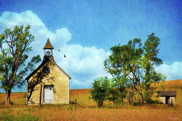 Photograph - Kansas Prairie Schoolhouse by Anna Louise