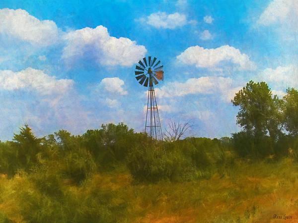 Photograph - Kansas Prairie Windmill by Anna Louise