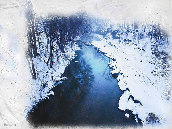 Photograph - Kansas Snow Creek by Anna Louise