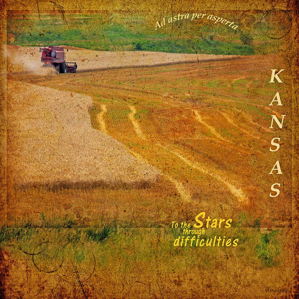 Photograph - Kansas To The Stars Through Difficulties by Anna Louise