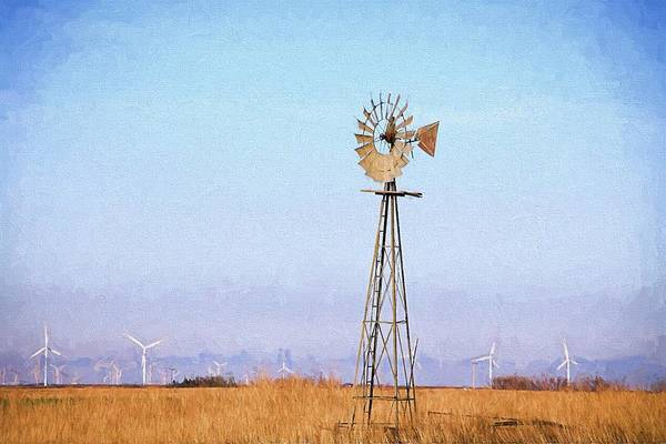Digital Art - Kansas Windmills by JC Findley