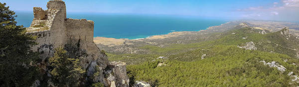 Nature Wall Art - Photograph - Kantara Castle, Cyprus, Panorama by Iordanis Pallikaras