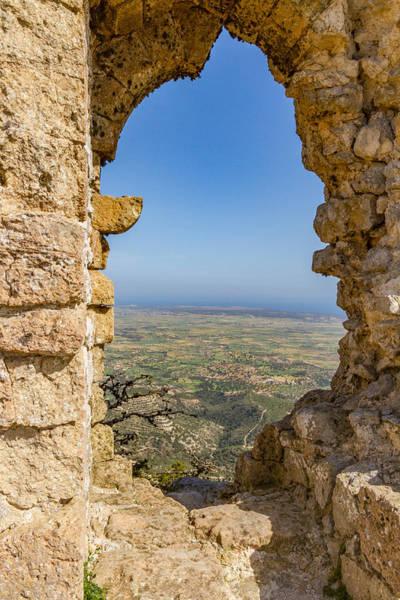Stone Wall Art - Photograph - Kantara Castle Window View by Iordanis Pallikaras