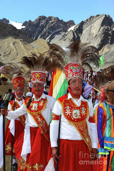 Photograph - Kapac Chunchu Dance Group At Qoyllur Riti Festival Peru by James Brunker