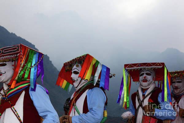 Photograph - Kapac Qolla Dance Group At Qoyllur Riti Festival Peru by James Brunker